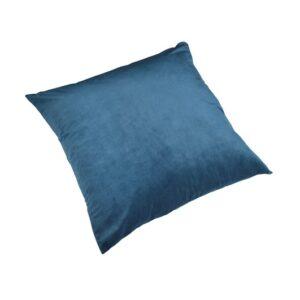 Pute 55cm x 55cm Velour Petroleums Blue Inkl.Dun/fjær innmat
