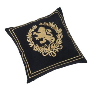Pute velour Lion med gull broderi inkl. dun innmat 50x50cm