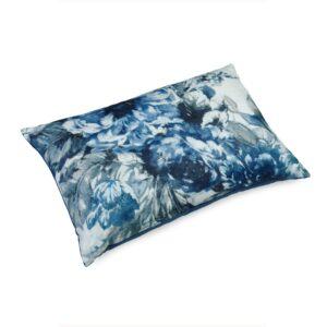 Pute 40×60 Lin Flower Blue inkl. innmat dun fjær