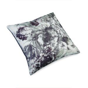 Pute 50×50 Lin Flower Gray inkl. innmat dun fjær