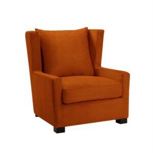 Stol Kingston halvrund B81 D93 H89 Velour Orange
