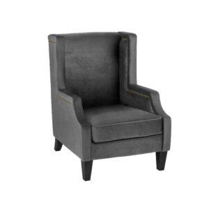 Stol Atlanta B78 D88 H110 velour Dark Grey