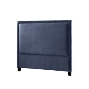 Headboard Madrid B180 med nagler velour Petroleums Blue
