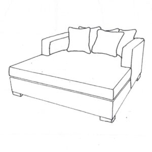 Daybed Vancouver B175 D165 H77 Lin Sand