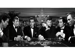 Glass picture All James Bond casino 90cm x 180cm