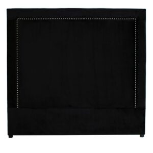 Headboard Oxford Street B150 med nagler velour Black