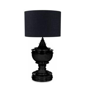 Bordlampe Spring Hill 28x53Cm Matt Black (Finnes med skjerm i lys lin)