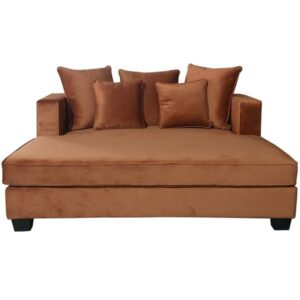 Daybed Oxford Street B173 D160 H71  Rusy Orange