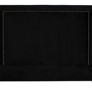Headboard Oxford Street B180 med nagler velour Black