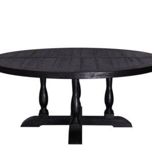 Chateau rundt spisebord (ø180 cm – sort eik)