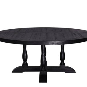 Chateau rundt spisebord (ø150 cm – sort eik)